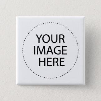 テンプレートのブランク。  あなたのイメージの文字をここに加えて下さい 5.1CM 正方形バッジ