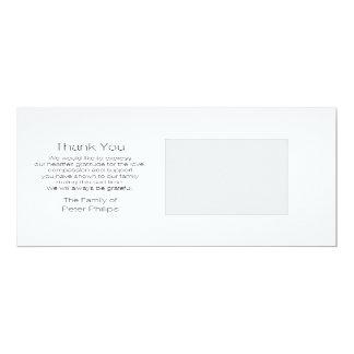 テンプレートの悔やみや弔慰は冬の写真の背部感謝していしています 10.2 X 23.5 インビテーションカード