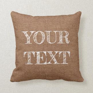 テンプレートの枕カスタムな文字の模造のなバーラップの背景 クッション