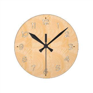 テンプレートは金ゴールドホイルを刻みました: 文字のイメージを加えて下さい ラウンド壁時計