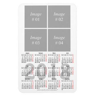 テンプレート2018のカレンダーの報酬の磁石 マグネット