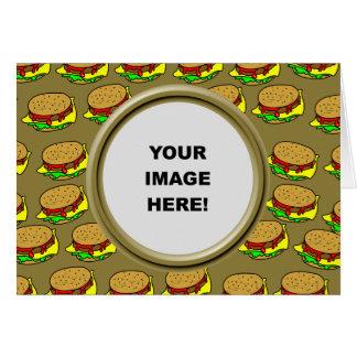 テンプレート、ハンバーガーのボーダー カード