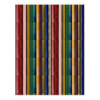 テンプレートDIYは文字のイメージの虹のエンボスのストリップを加えます ポストカード