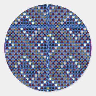 テンプレートDIYは青の5つの陰nの質感を消します ラウンドシール