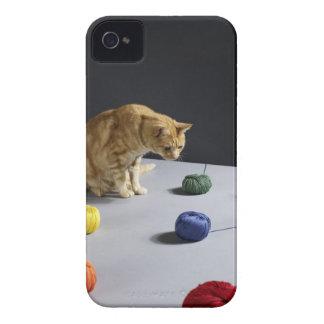 テーブルに坐っているショウガの虎猫猫 Case-Mate iPhone 4 ケース