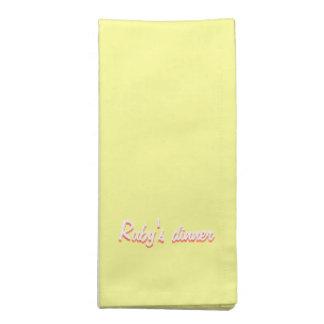 テーブルのためのルビーの黄色によって印刷されるナプキン ナプキンクロス