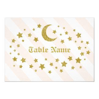 テーブルの名前のグリッターの星 カード
