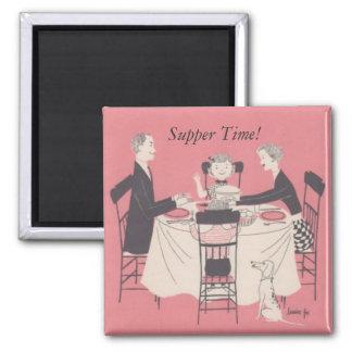 テーブルの家族、夕食の時間! マグネット