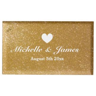 テーブルの座席表帯出登録者を結婚するカスタムで模造のな金ゴールド テーブルカードホルダー