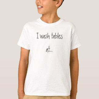 テーブルの洗浄 Tシャツ