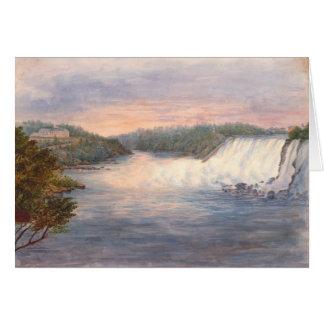 テーブルの石1846年からのナイアガラ・フォールズ カード