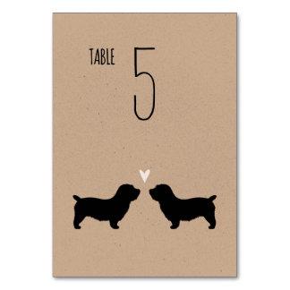 テーブルカードを結婚しているImaalテリアの谷間 カード