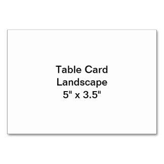 テーブルカード景色