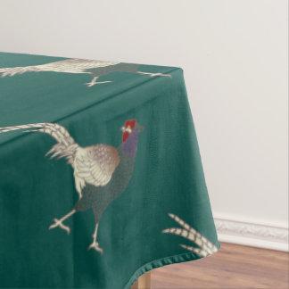 テーブルクロスのキジのターコイズの感謝祭 テーブルクロス