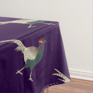 テーブルクロスのキジの紫色の感謝祭 テーブルクロス