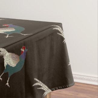テーブルクロスのキジの茶色の感謝祭 テーブルクロス