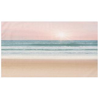 テーブルクロスの日没の青のバラのビーチ テーブルクロス