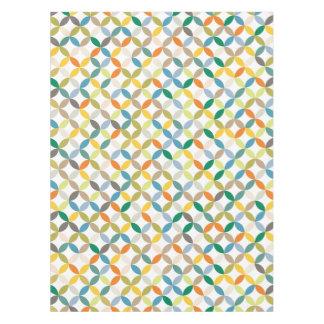 テーブルクロスの繰り返しの円によって着色される四分の一 テーブルクロス