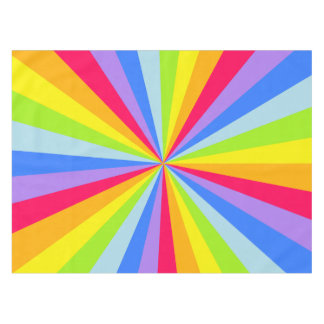テーブルクロスの虹のスターバスト テーブルクロス