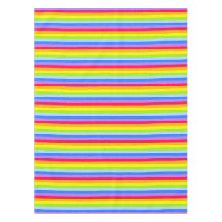 テーブルクロスの虹は縞で飾ります テーブルクロス