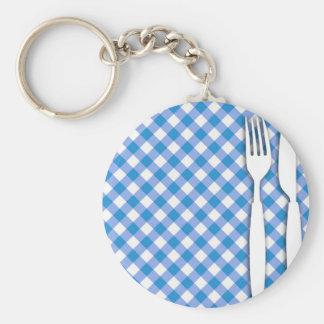 テーブルクロスの食事用器具類 キーホルダー