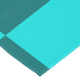 テーブルクロスは、青緑パターンをタイルを張ります テーブルクロス