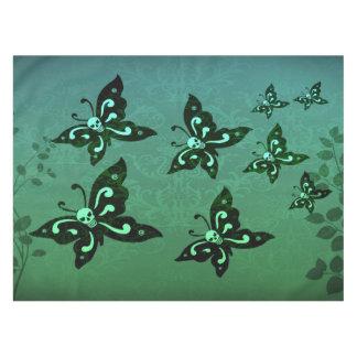 テーブルクロス-庭のSkullerflies テーブルクロス