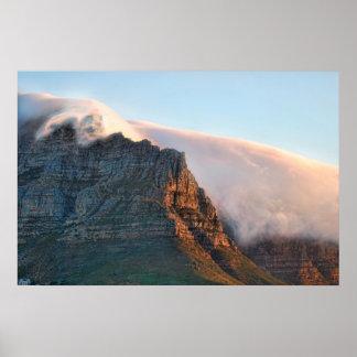 テーブル山ケープタウン南アフリカ共和国 ポスター