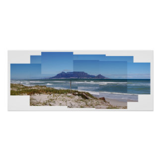 テーブル山、ケープタウン、南アフリカ共和国 ポスター
