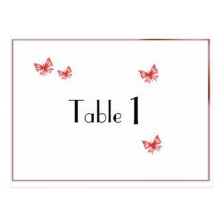 テーブル数を結婚する柿の蝶ハート ポストカード