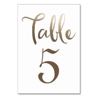 テーブル数タイポグラフィカードを結婚する金ゴールド カード
