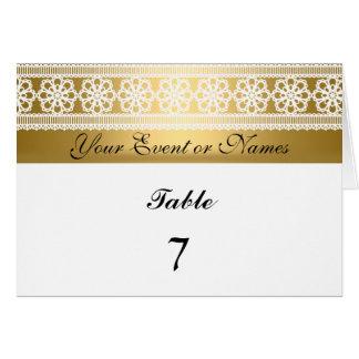 テーブル数モデルのパーティーカード金ゴールドの白 カード