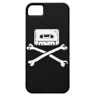 テープ及び骨が交差した図形音楽海賊海賊行為の家の収録 Case-Mate iPhone 5 ケース