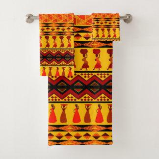 テーマのアフリカの種族パターンタオルセット バスタオルセット