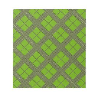テーマの緑の陰: ダイヤモンドWindows ノートパッド