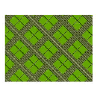 テーマの緑の陰: ダイヤモンドWindows ポストカード
