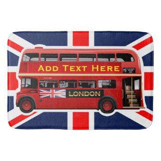 テーマロンドン赤いバス バスマット