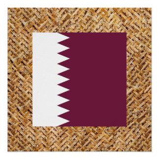 テーマ織物のカタールの旗 ポスター