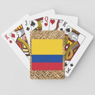 テーマ織物のコロンビアの旗 トランプ