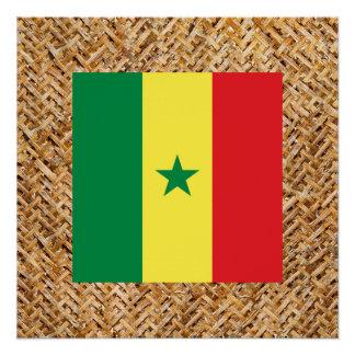 テーマ織物のセネガルの旗 ポスター