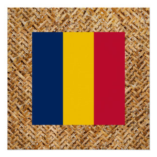 テーマ織物のチャドの旗 ポスター