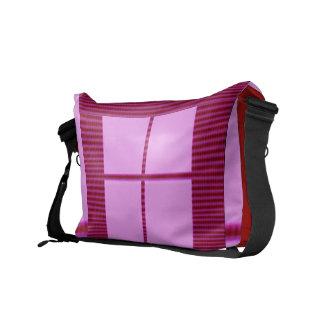 テーマ4の正方形-サテンの絹のお洒落なデザイン クーリエバッグ