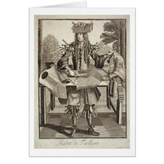 テーラーのための衣裳、パブ。 Gerard Valck (1651/2著 カード