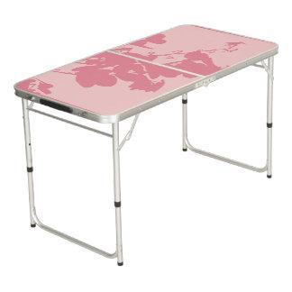 テールゲートのサイズのPongのテーブルのピンクのハチドリ ビアポンテーブル