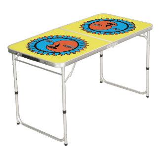 テールゲートのサイズのPongのテーブルの月の日曜日の反射 ビアポンテーブル