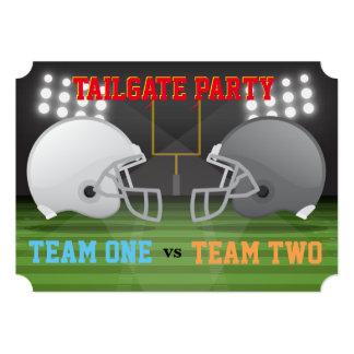 テールゲートのフットボール用ヘルメット米国の肋骨の翼のパーティー4 カード