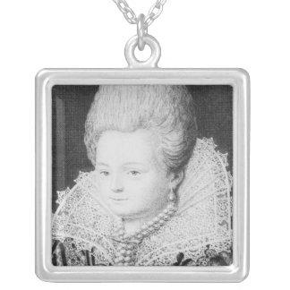 ディアーヌのd'Andouins、Gramontの伯爵婦人 シルバープレートネックレス