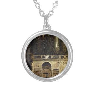 ディエゴベラスケス著ローマの別荘Medici シルバープレートネックレス