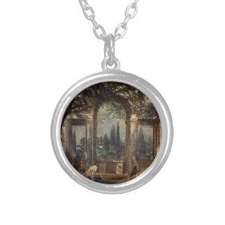 ディエゴ著ローマの別荘Mediciの庭 シルバープレートネックレス