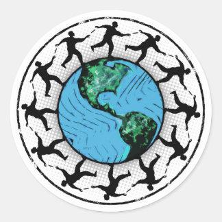 ディスクゴルフをする惑星の地球 ラウンドシール